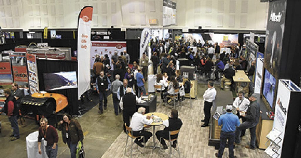 Central Plains Dairy Expo inside view.