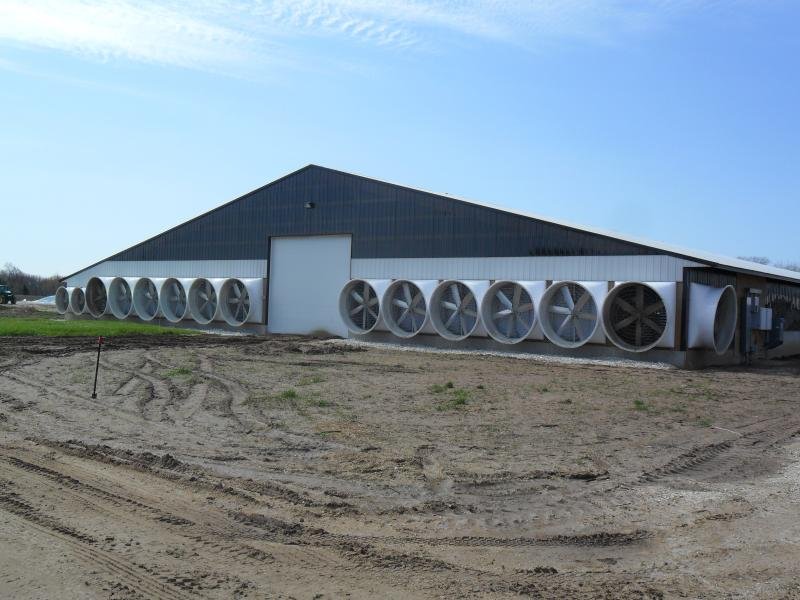 Exhaust fans on Orthland Dairy Farm LLC in Cleveland, WI