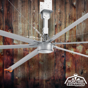 Agro Air Dynamics: HVLS Fan, recirculating air flow ceiling fan.