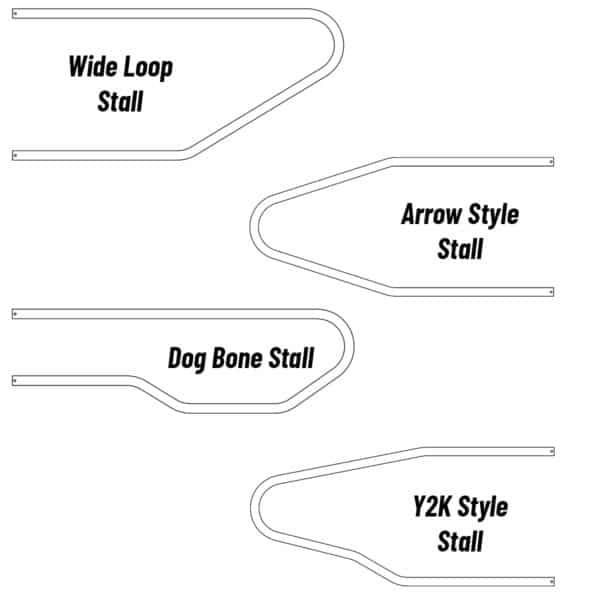 Agromatic Steel Freestall loop styles.