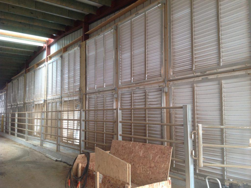 Barn fan shutters (inside view).