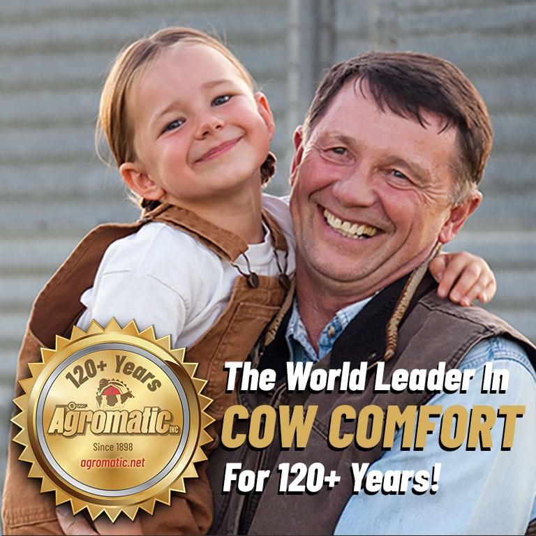 Dairy farm family choosing Agromatic farm equipment.
